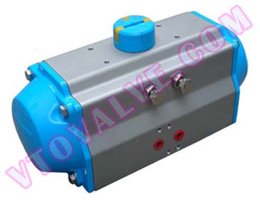 AT series rack and pinion type pneumatic actuators