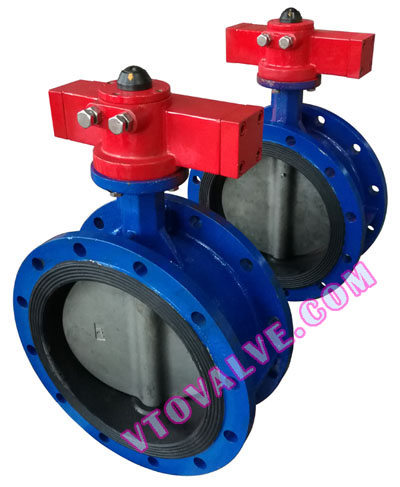 Hydraulic Butterfly Valves D741X-16C with HA50 Hydraulic Actuator