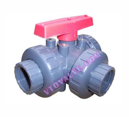 PVC,PVDF,RPP 3-way Ball Valves