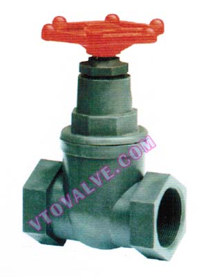 PVC,PVDF,RPP threaded globe valves
