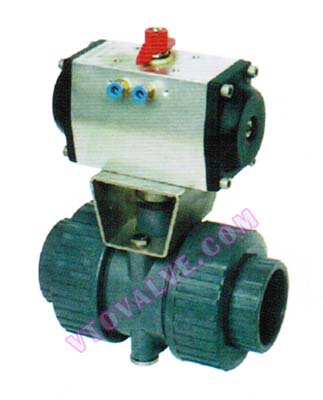 PVC,PVDF,RPP Pneumatic Ball Valves