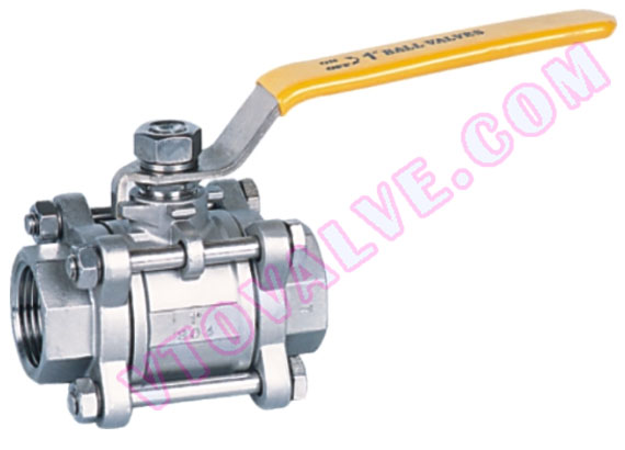 3PC Female Threaded Ball Valves