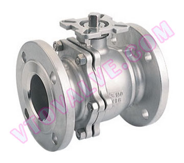 2PC Flanged Ball Valves with Direct Mounting