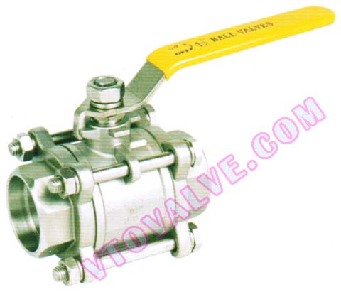 3PC Socket Welding Ball Valves