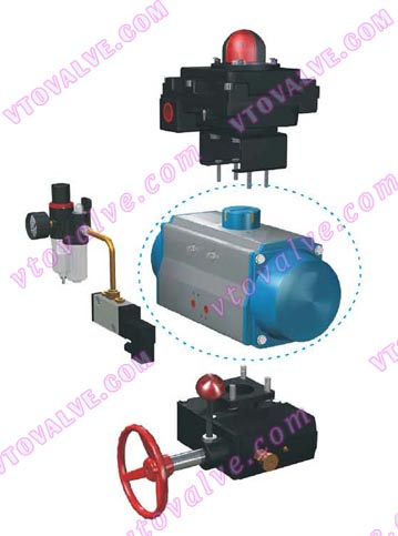AT pneumatic actuator and accessories